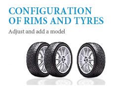 Configuration of rims and tyres